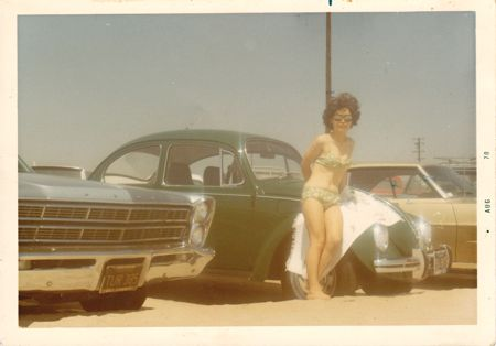 Mom at the beach in California 1970