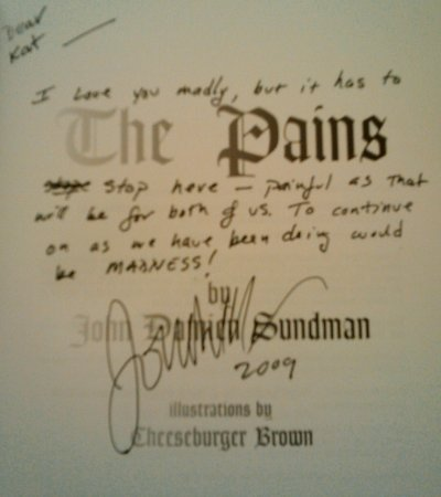 John Damien Sundmen signed book